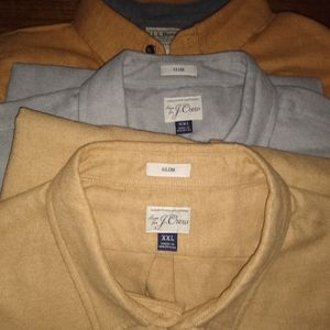 J Crew and LL Bean flannel shirt lot